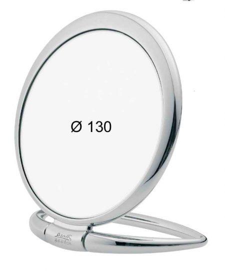 Chromium table mirror, Magnification X6, Diameter 130 Cod. CR444.6