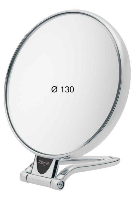 Chromium table mirror, Magnification X6, Diameter 130 Cod. CR446.6