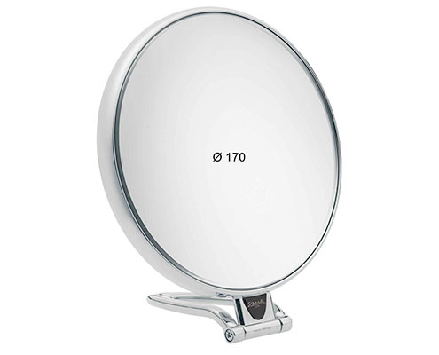 Chromium table mirror, Magnification X3, Diameter 170 Cod. CR447.3