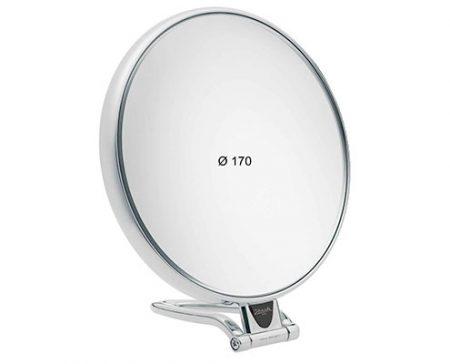 Chromium table mirror, Magnification X6, Diameter 170 Cod. CR447.3