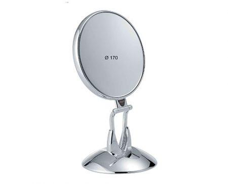 Chromium table mirror with base, Magnification X6, Diameter 170 Cod. CR447.6 SU