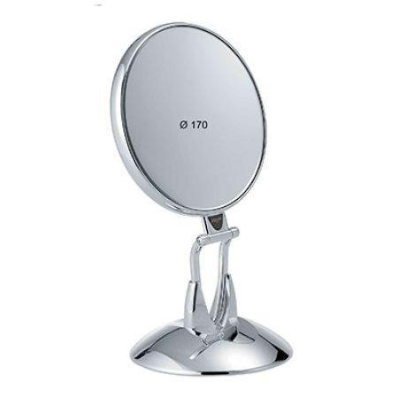 Зеркало настольное хром c подставкой Увеличение x6 Диаметр 170 Код CR447.6 SU