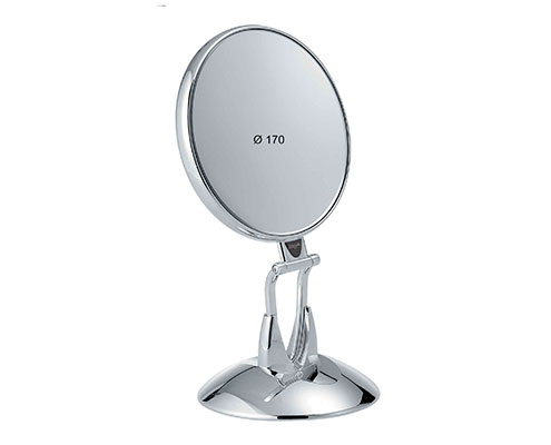 Chromium table mirror with base, Magnification X6, Diameter 170 Cod. CR447.6 SU
