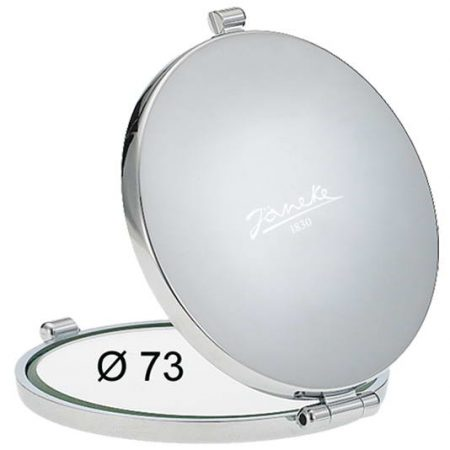 Зеркало для сумочки хром Диаметр 73 Код CR448