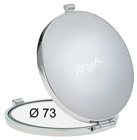 Зеркало для сумочки хром Диаметр 73 Увеличение x6 Код CR448.6