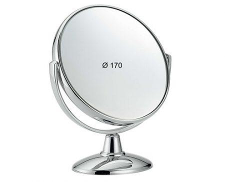 Chromium table mirror, Magnification X3, Diameter 170 Cod. CR496.3