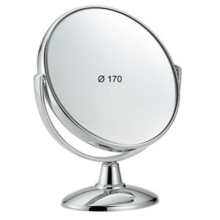 Chromium table mirror, Magnification X3, Diameter 170 Cod. CR496.3