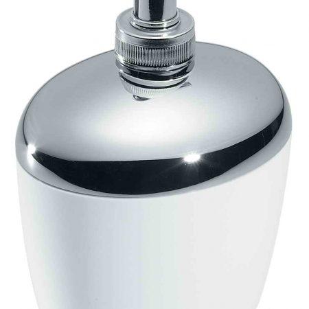 Диспенсер для жидкого мыла хром цвет белый Код CR539 BIA