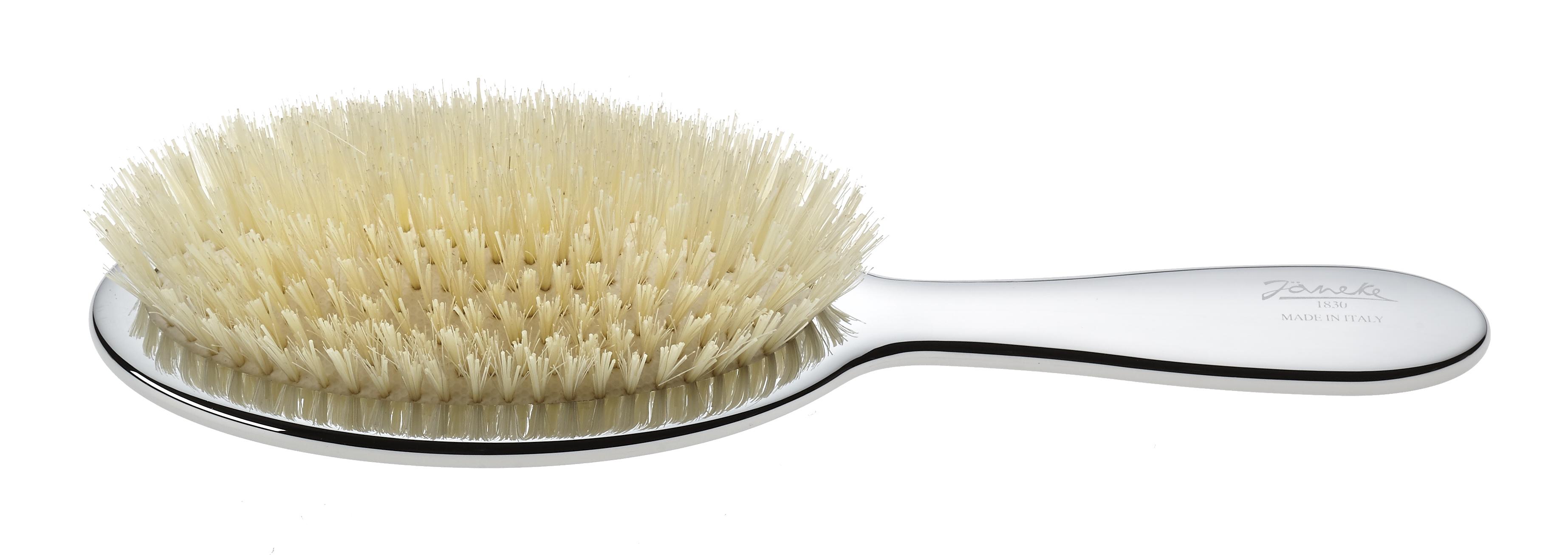 Chromium pneumatic brush with white bristles Cod. CRSP22SF BIA