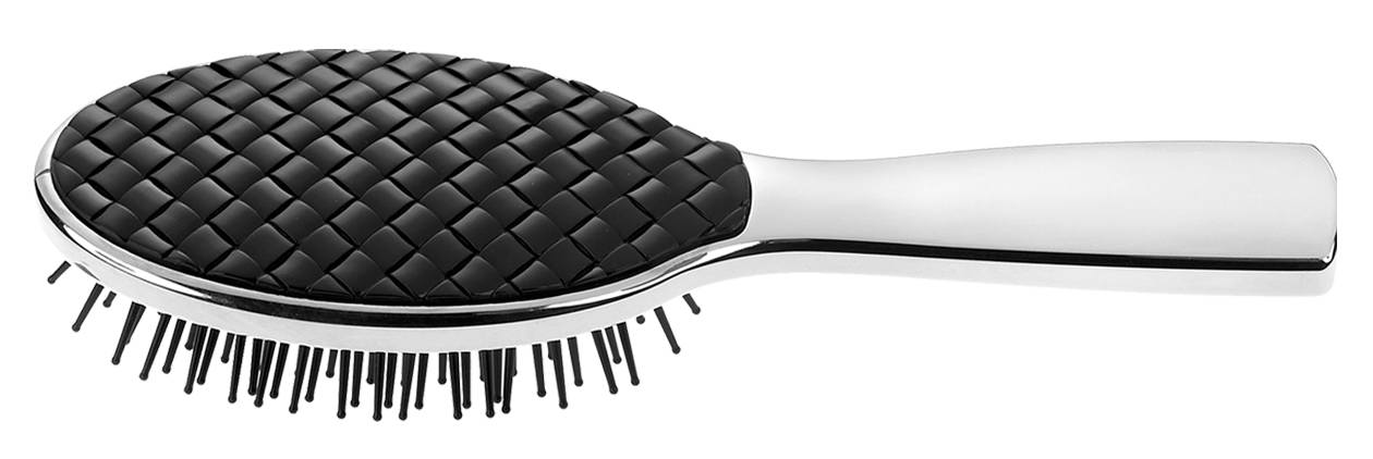 Chromium and quilted hair-brush Cod. CRSP232T2