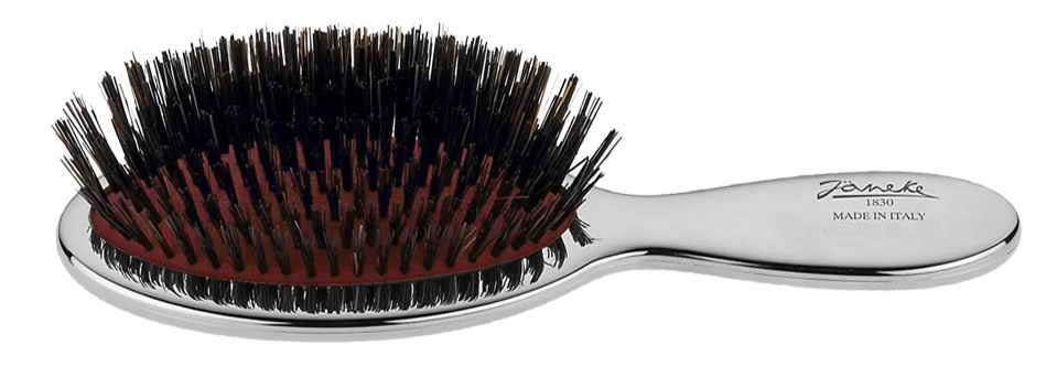 Chromium handbag brush with bristles Cod. CRSP24SF