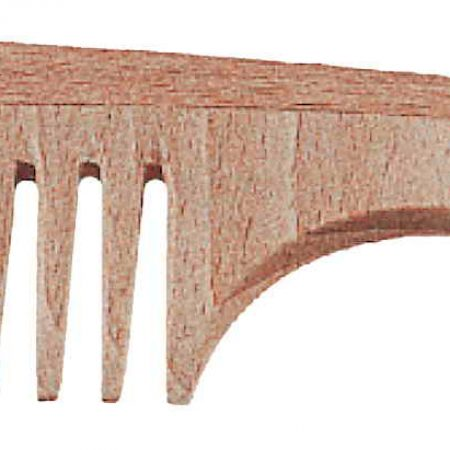 Beech wide-teeth comb with handle Cod. LG360