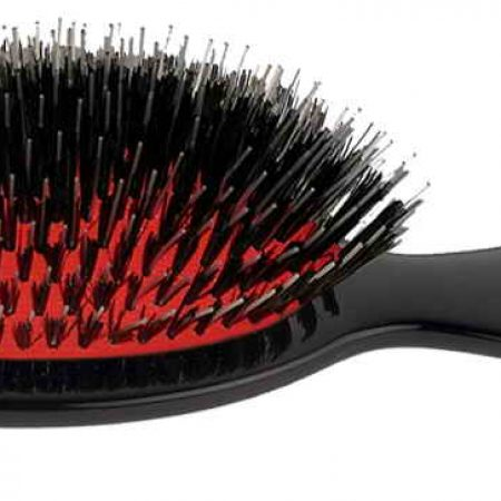 Black handbag brush with bristles and Nylon reinforcement Cod. P24M NER