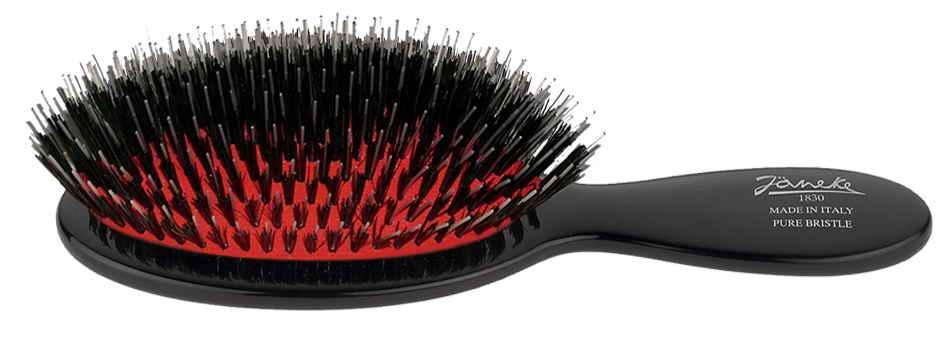 Black handbag brush with bristles and Nylon reinforcement Cod.P24M NER
