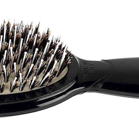 Oval hairbrush with bristles and Nylon reinforcement, small Cod. SP27M NER
