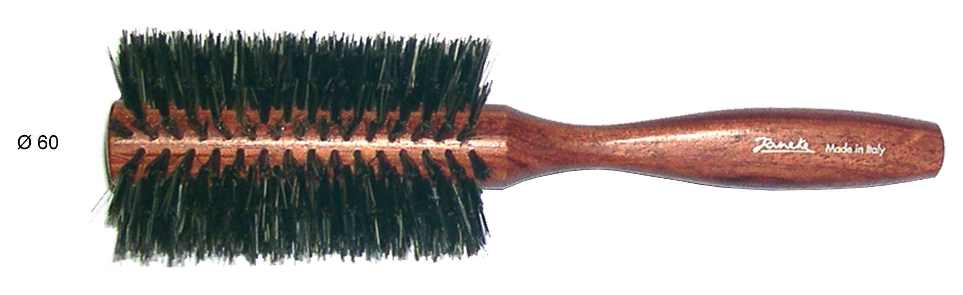 Bubinga wooden hairbrush Diameter 60 Cod. SP84K